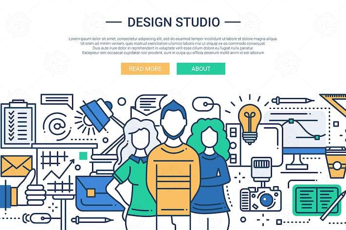 Cover Image For Design Studio - line design website banner