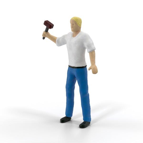 Miniature Man at Work