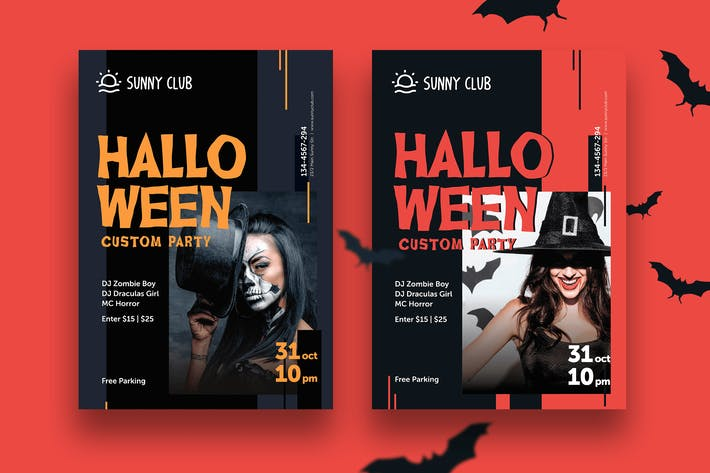 Thumbnail for Halloween Party Poster + Flyer