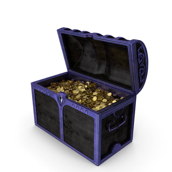 Magical Chest With Gold Coins