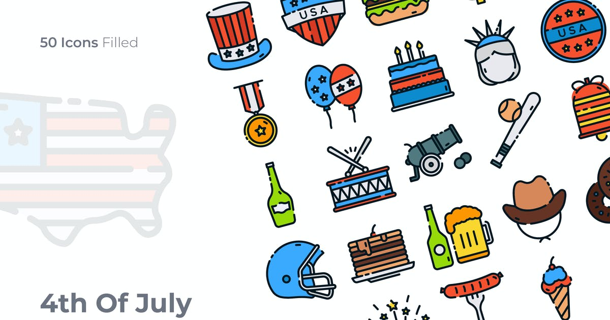 Download 4th of July Filled Icon by GoodWare_Std