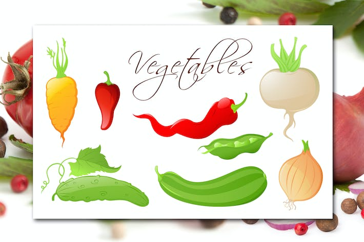 Cover Image For Set of Vegetables
