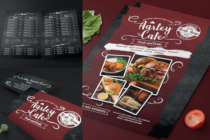 Cover Image For Blackboard Food Menu Flyer