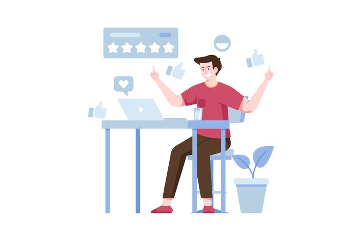Feedback Gute flache Illustration