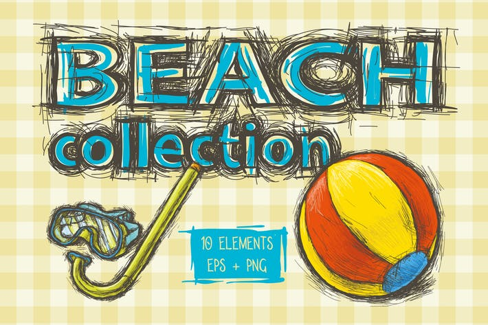 Thumbnail for Beach Illustration Collection