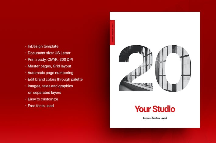 Thumbnail for Red Agency Brochure Template