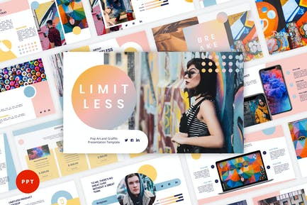 Limitless - Pop Art & Graffiti PowerPoint Template