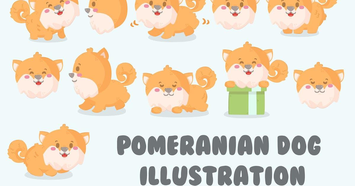Download Pomeranian Dog Illustration Set by april_arts