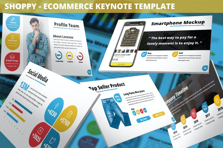 Thumbnail for Shoppy - Ecommerce Keynote Template