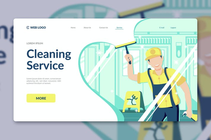 Thumbnail for Cleaning Service Landing Page