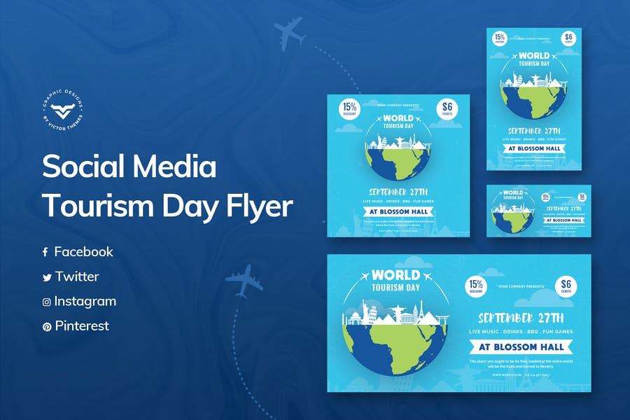 World Tourism Day Social Media Template