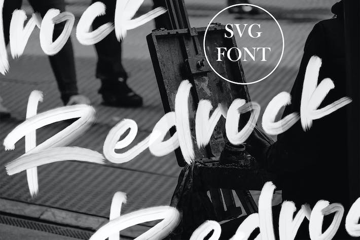 Thumbnail for Redrock | SVG Brush Font