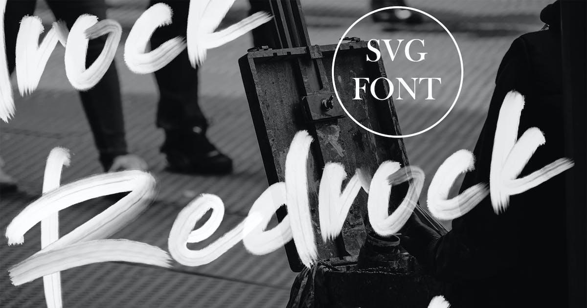 Download Redrock | SVG Brush Font by arendxstudio