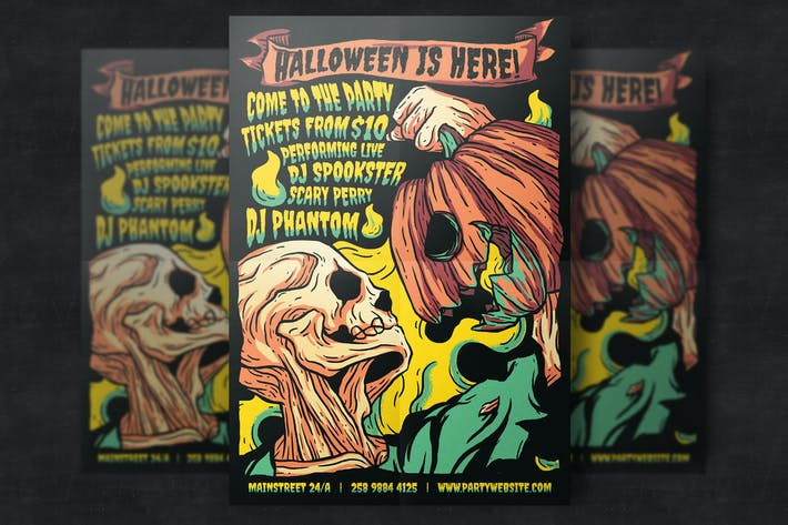 Thumbnail for Halloween Party Flyer Template