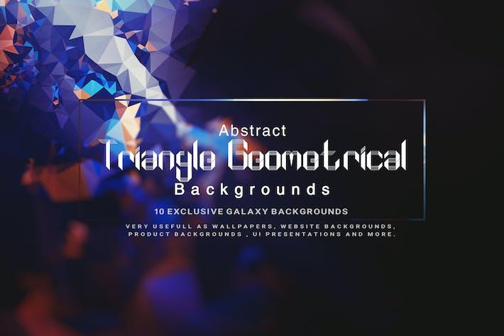 Thumbnail for Abstraktes Dreieck Geometrischer Hintergrund V2