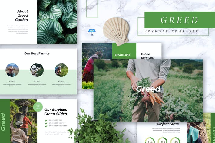 Thumbnail for GREED - Botanical Keynote Template