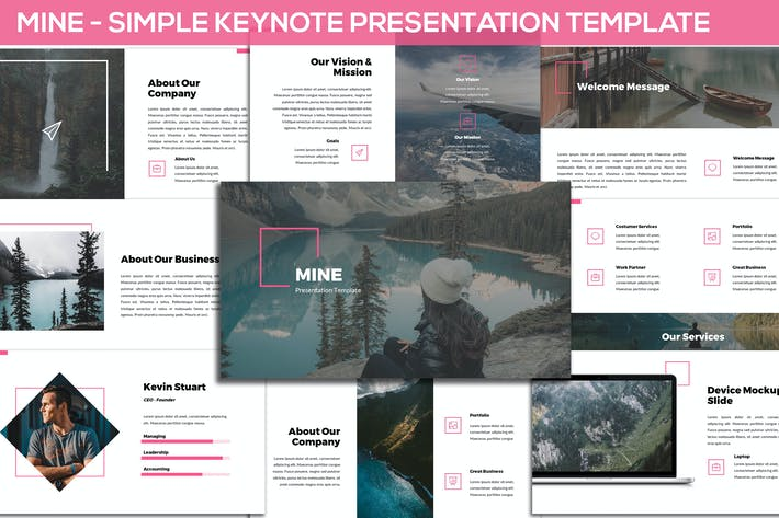 Thumbnail for Mine - Simple Keynote Presentation Template