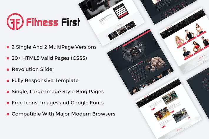 Thumbnail for Fitness Gym Html Template