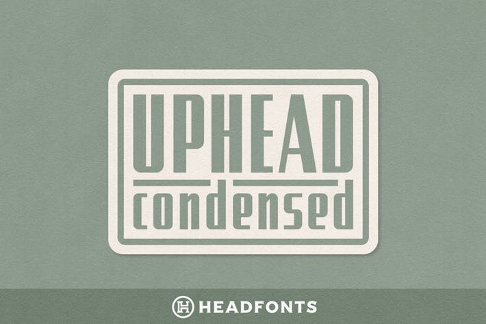 Thumbnail for Uphead Condensed Typeface Font