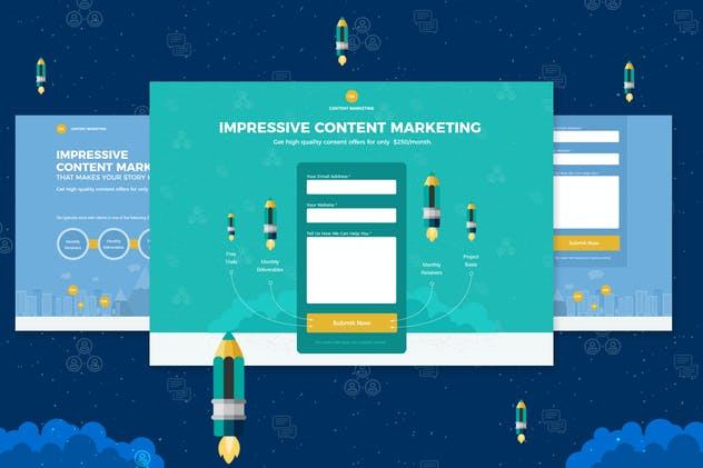 Content Marketing Unbounce Landing Page