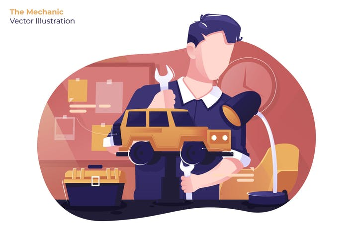 Thumbnail for The Mechanic - Vector Illustration