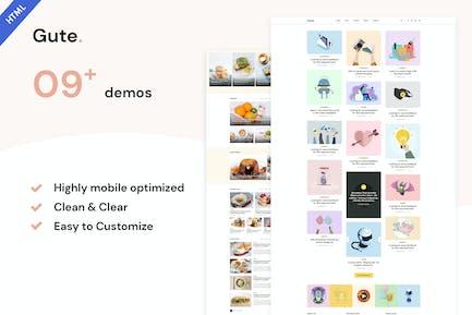Gute   Minimalist Blog HTML5 Template