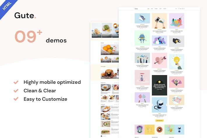 Gute | Minimalist Blog HTML5 Template