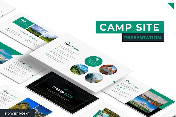Thumbnail for Место лагеря — Шаблон Powerpoint