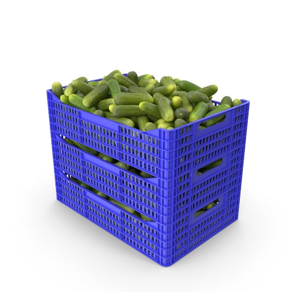 Thumbnail for Plastic Crate of Gherkin Cucumbers