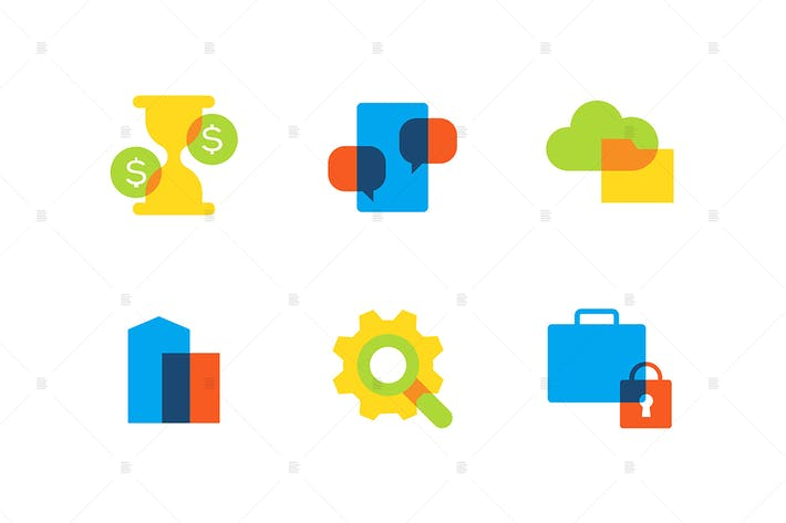 Thumbnail for Business and finance - flat design style icons set
