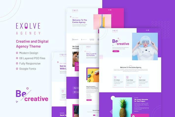 EXOLVE - Modernist Design PSD