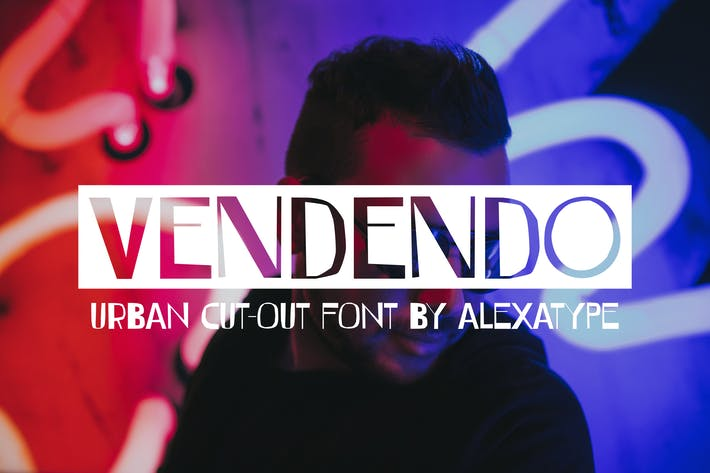 Thumbnail for VENDENDO - Urban Cut Out Font
