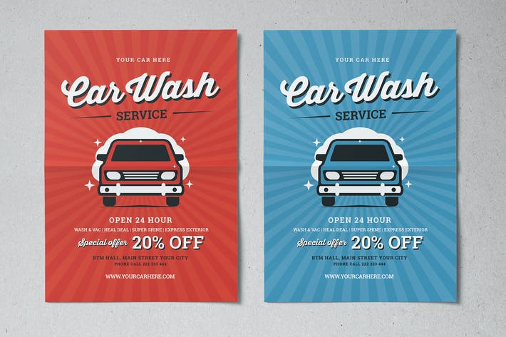 Thumbnail for Vintage Car Wash Flyer