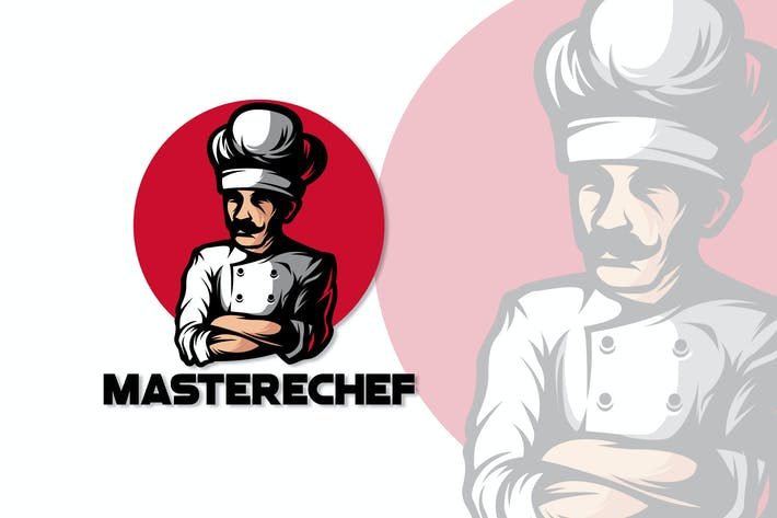 Thumbnail for CHEF MASCOT LOGO TEMPLATE