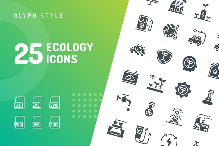 Thumbnail for Ecology Glyph Icons