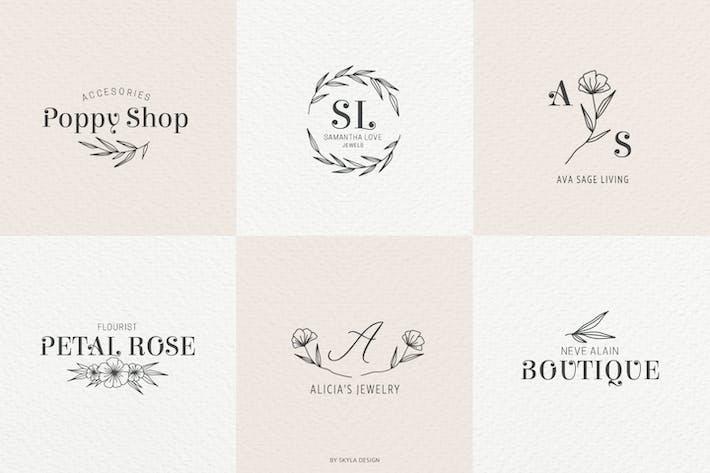 Cover Image For Romantic Feminine Premade Logos pt 2