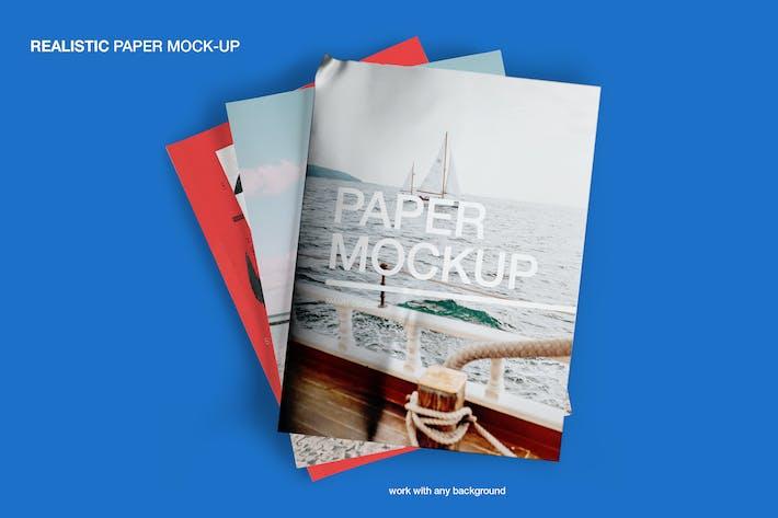 Thumbnail for Realistic Paper Mockup