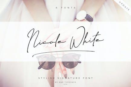 NicoleWhite • 8 Pretty Font