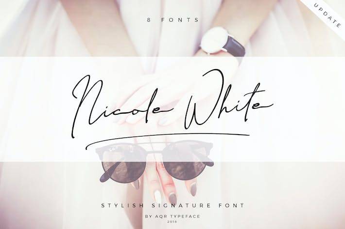 Thumbnail for NicoleWhite • 8 Pretty Font