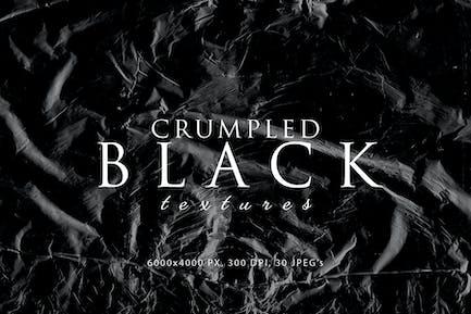 Black Crumpled Textures
