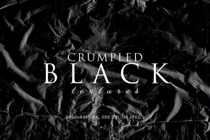 Thumbnail for Black Crumpled Textures