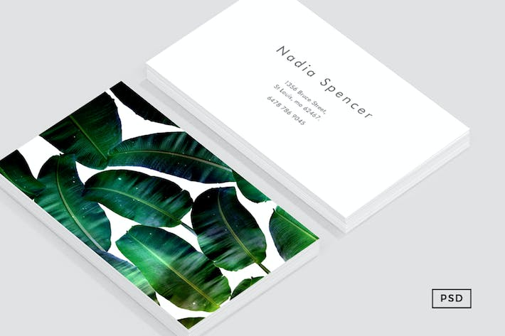 Thumbnail for Banana Leaf Business Card Template