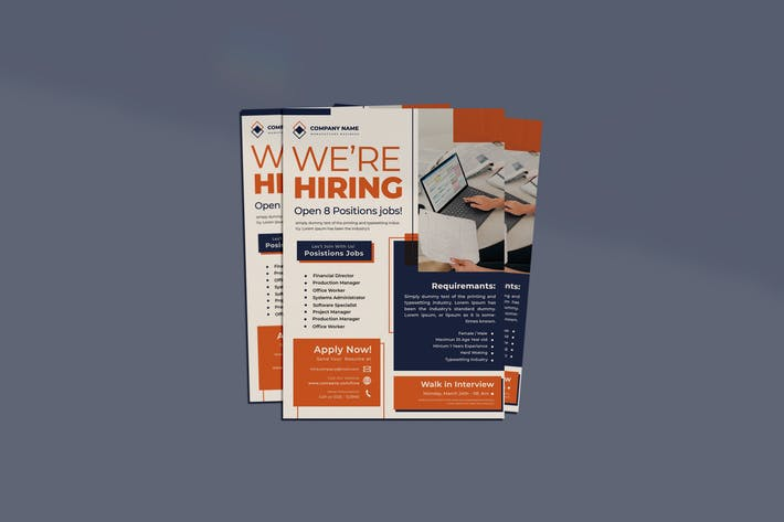 Jobs Hiring Flyer