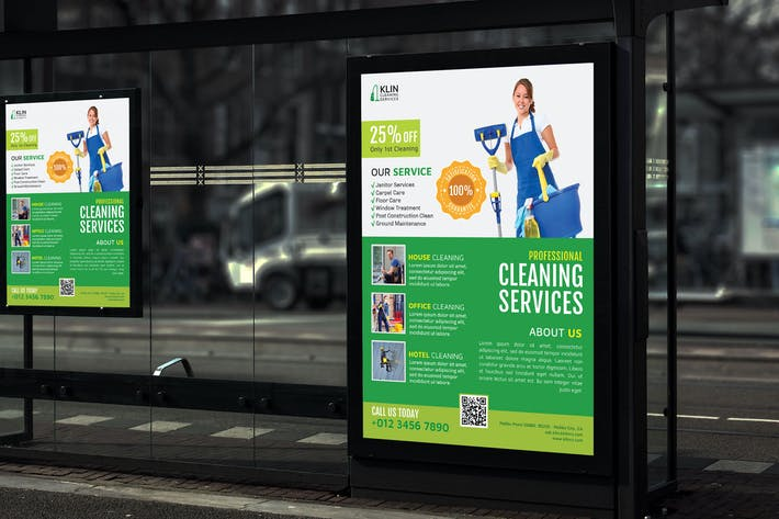 Thumbnail for Klin Cleaning Service - Promotion Poster RB