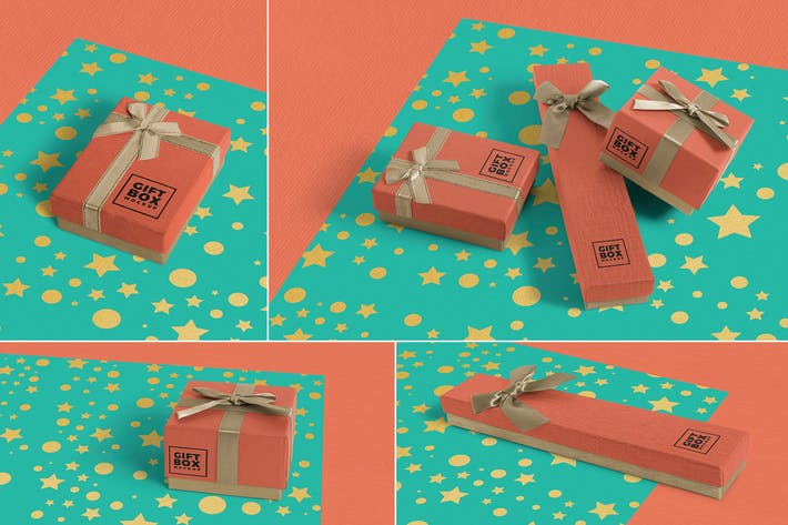 Cover Image For Gift Box Mockups