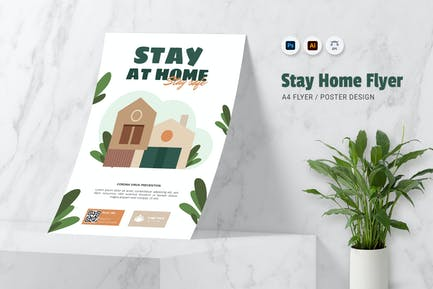 Stay At Home Flyer
