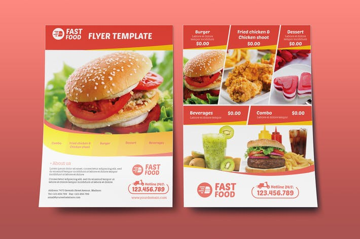 restaurant fast food flyer template by wutip on envato elements