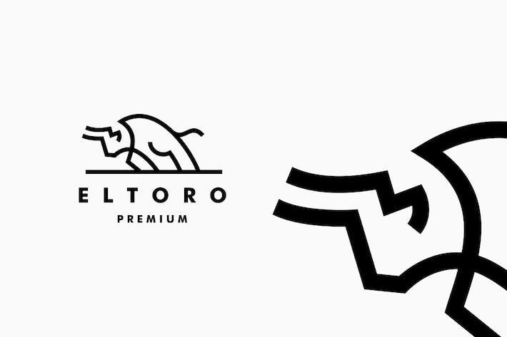 Thumbnail for Charging Bull Toro Monoline Logo
