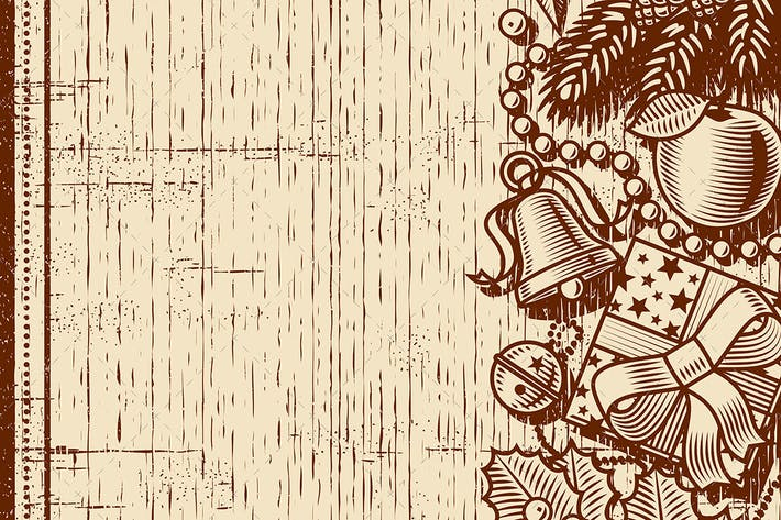 Cover Image For Retro Christmas Background Brown