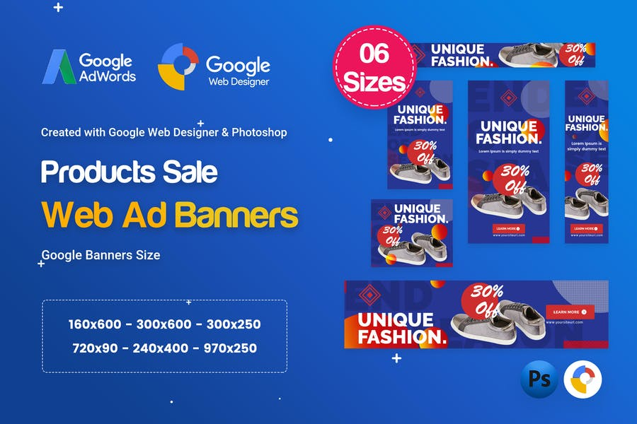Product Sale Banners HTML5 D51 Ad - GWD & PSD
